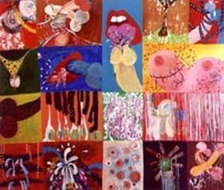 Patchwork. Acrilico sobre tela, 145x200cm - 2003
