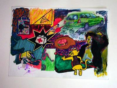 1999, tecnica mixta sobre papel