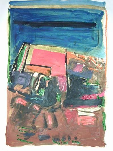 1996, oleo sobre papel